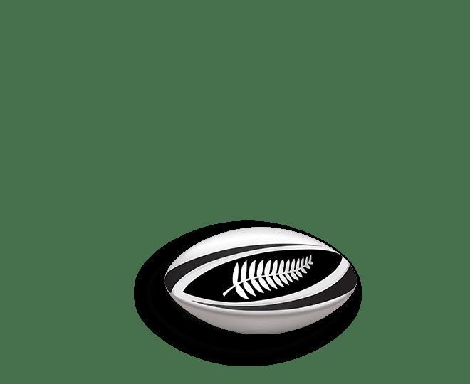 Bola de rugby da seleção da Nova Zelândia