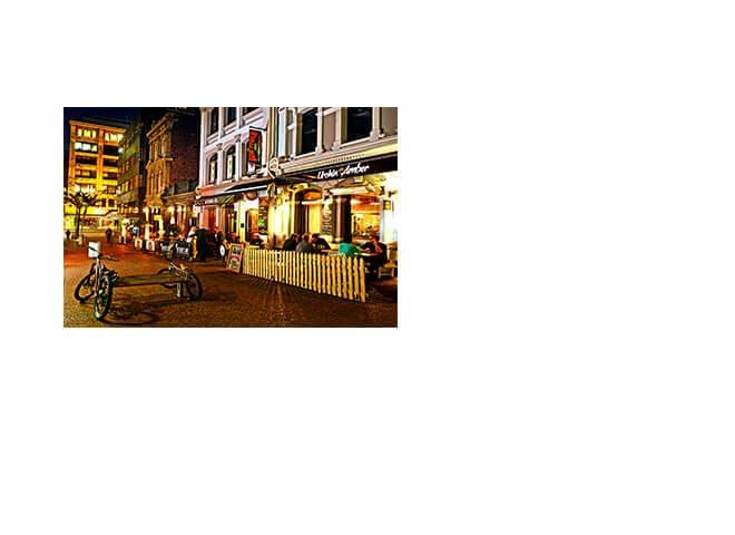 Fachada de bares e restaurantes da Nova Zelândia
