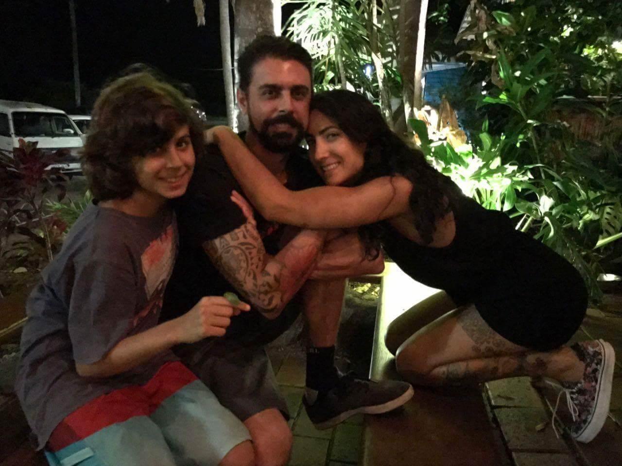 Laura, Thiago e Luca Belini