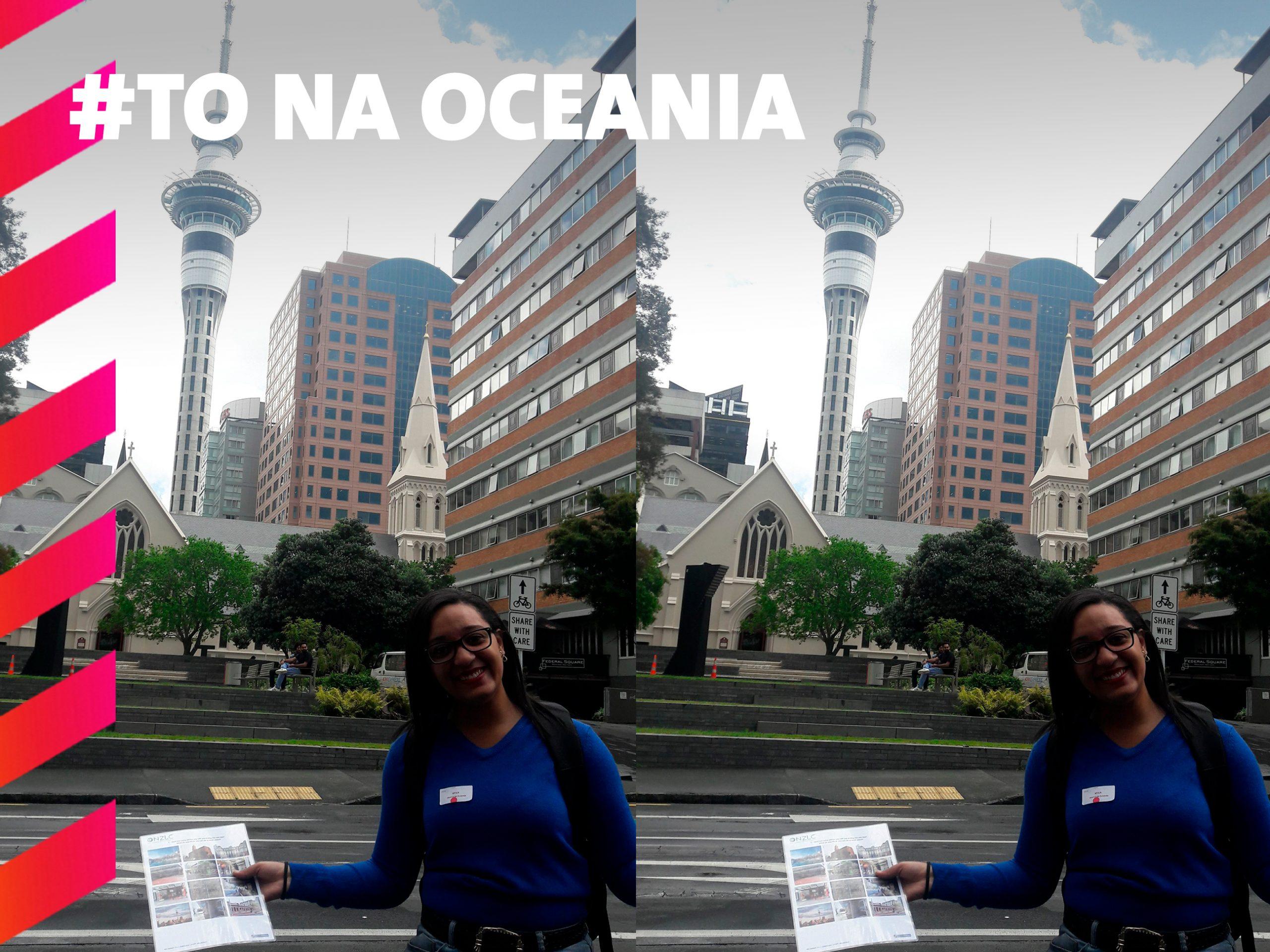 1° dia de aula na NZLC o representante nos levou para conhecer os pontos turísticos de Auckland próximo a The University of Auckland.