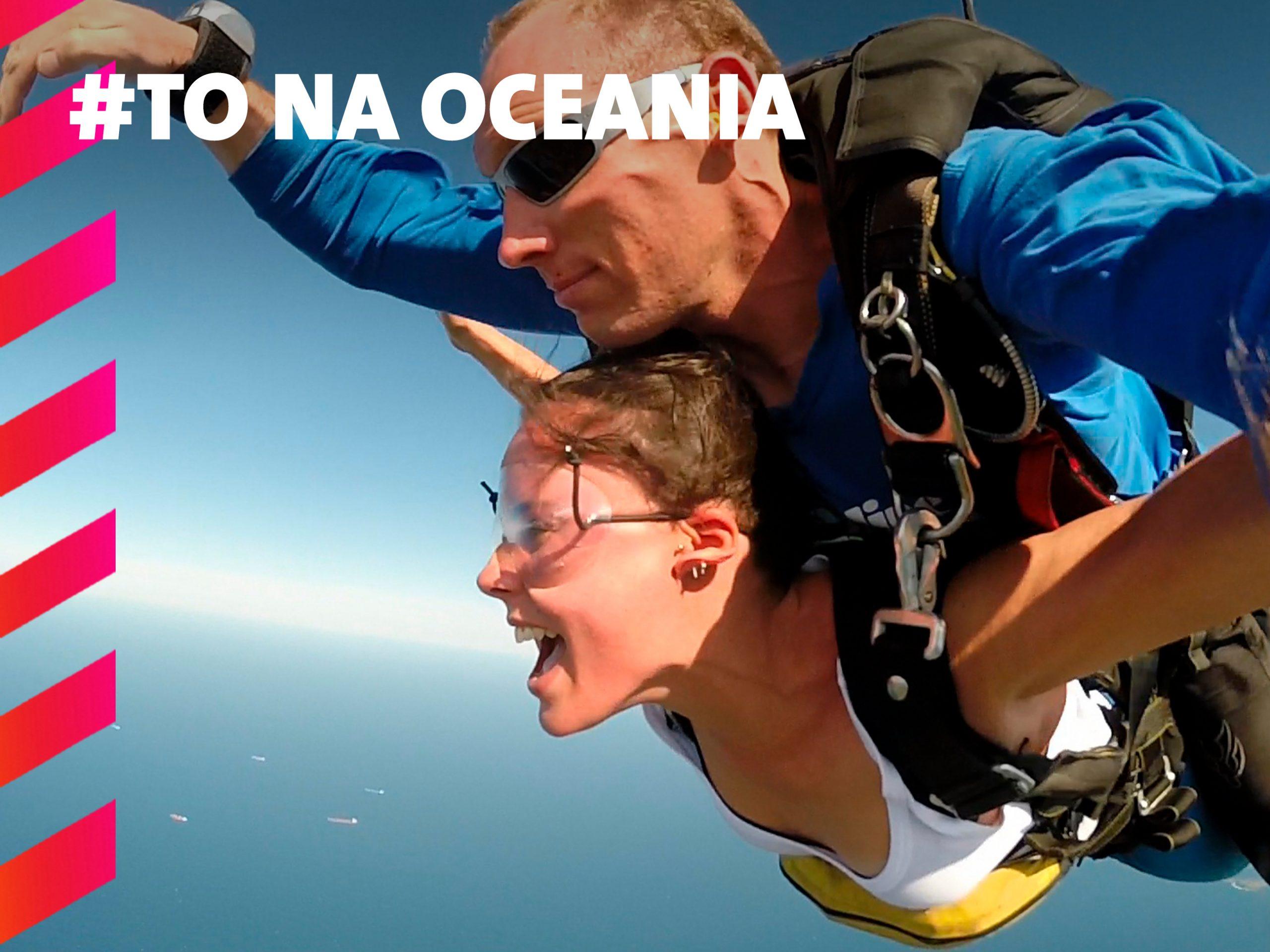 Skydiving.
