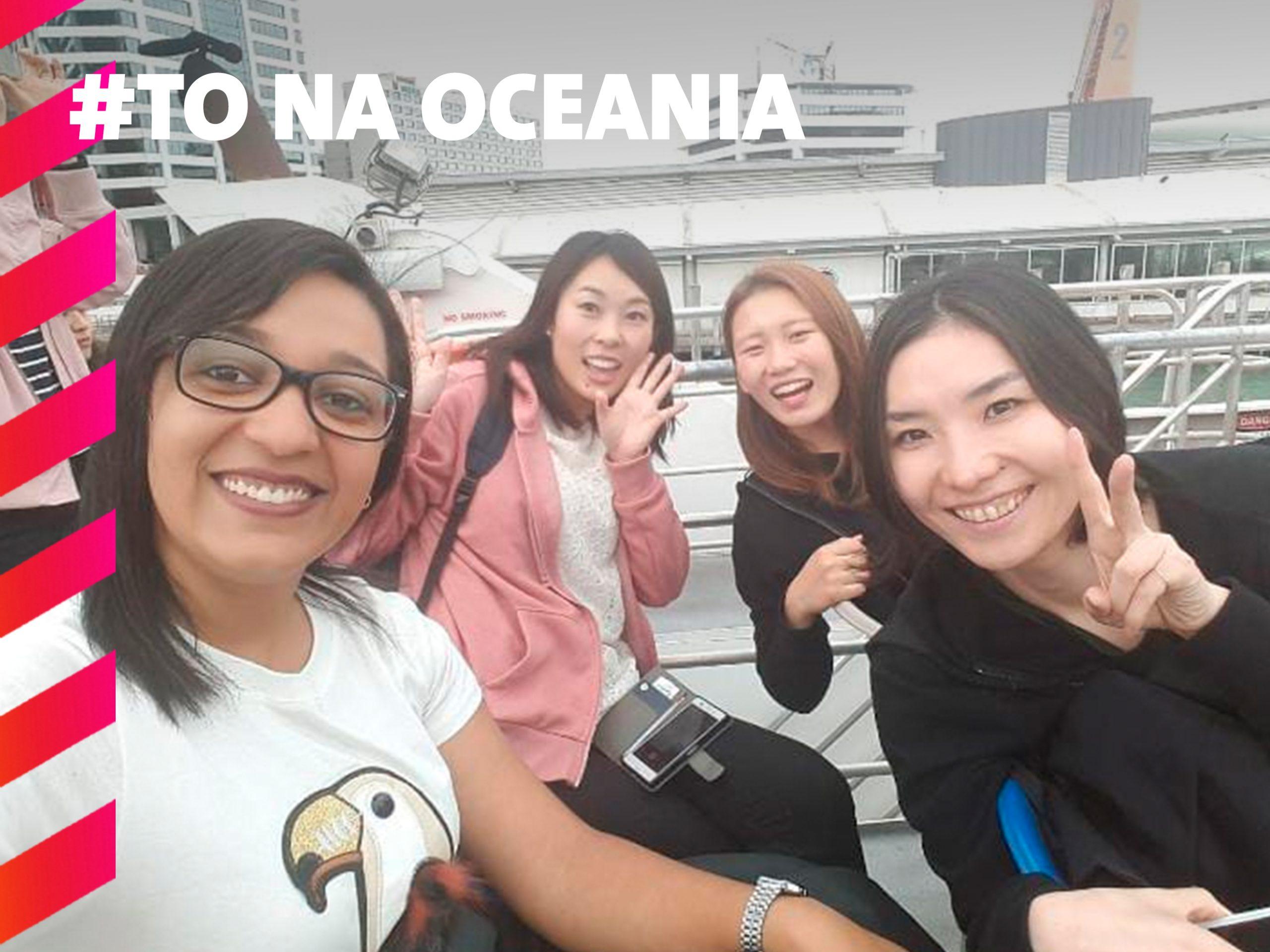 Passeio com a New Zealand Language de Ferry boat.